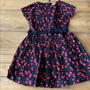 Crewcuts Girls (8) Black Dress with Cherries
